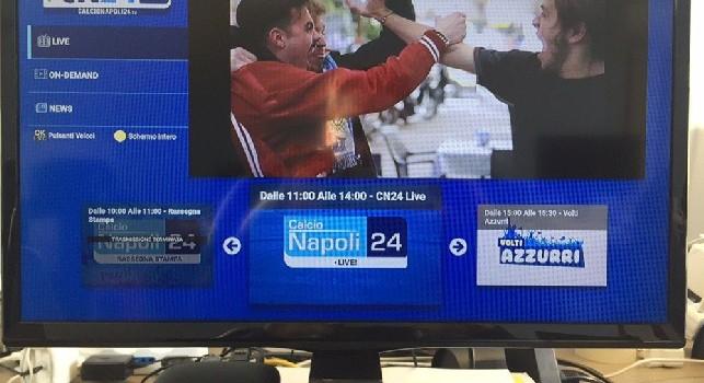 CalcioNapoli24Tv, disponibile l'app SmartTV per le TV ANDROID