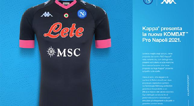 UFFICIALE - La SSC Napoli presenta seconda e terza maglia, sono ...