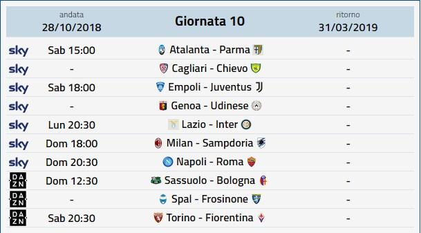 Prossimo Turno Serie A Calendario Serie A Date Orari Anticipi Posticipi