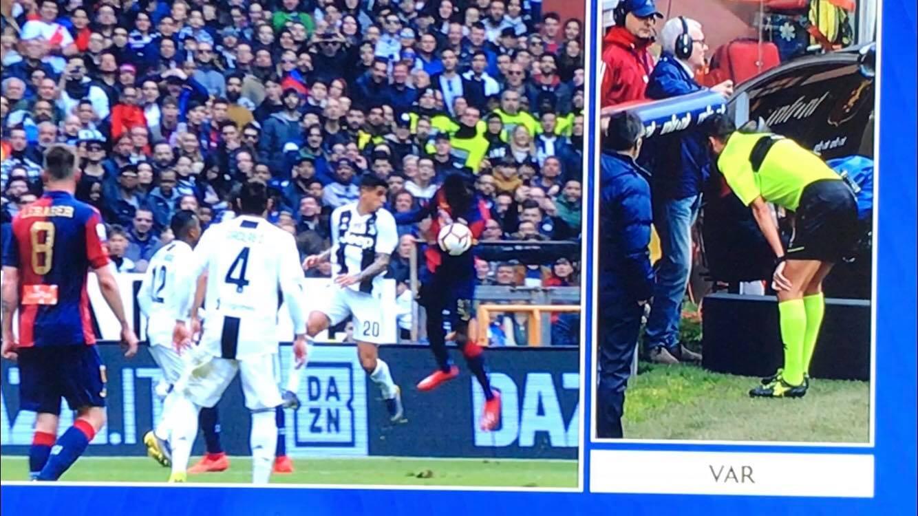Cancelo rigore Genoa Juve