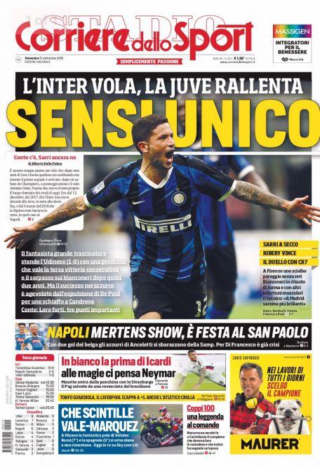 Corriere Dello Sport Calendario.Corriere Dello Sport Prima Pagina Edicola