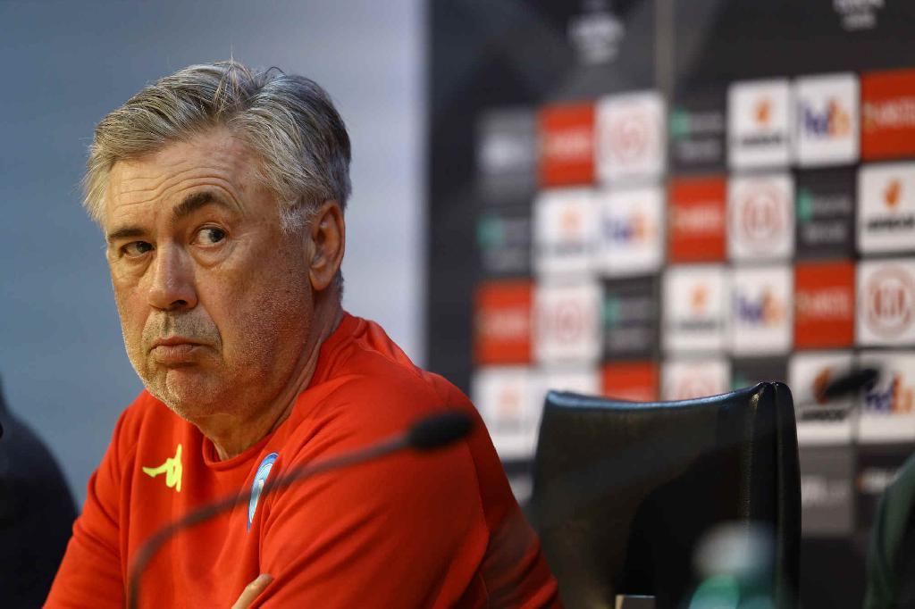 Carlo Ancelotti conferenza stampa Arsenal-Napoli