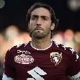 Napoli-Torino, ammonito Moretti dopo tre falli per una trattenuta su Milik