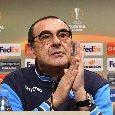 """Sarri: """"Tra 20 anni questo Napoli sarà ricordato! Ampliare la rosa è fondamentale per non uscire dalle coppe. Solidale coi tifosi che non saranno a Cagliari. Discorso trofei? Non vale"""" [VIDEO]"""