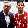 CdS - Tentazione James Rodriguez per il Napoli, è un vecchio pallino di Ancelotti. Il Bayern non lo riscatterà e il Real ha già fissato il prezzo: la situazione