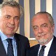 Sky - Summit SSC Napoli a casa Ancelotti: suggestione Quagliarella, pressing su Lozano e due nomi già bloccati!