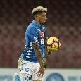 Ultimo cambio per il Napoli: dentro Malcuit, Ancelotti chiama fuori Hysaj