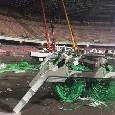 """Stadio San Paolo, l'ass. Borriello: """"Operai a lavoro"""" [FOTO]"""