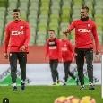 """Milik con Lewandowski: """"Lavorando duro e continuando a sorridere"""" [FOTO]"""