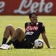 SSC Napoli -  Verdi ha svolto allenamento completo col gruppo, seduta sotto la pioggia in vista di Cagliari