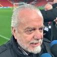 """De Laurentiis: """"Fair play finanziario? Non viene applicato, dovrebbe chiudere mezza Serie A! Otto anni fa ad Anfield era un Napoli cazzuto, ora mi fido di Ancelotti"""" [VIDEO CN24]"""