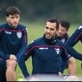 Cagliari, allenamento in vista del Napoli: lavoro personalizzato per Ionita, Pavoletti out