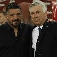 Gattuso-Napoli, Gazzetta: non è escluso che per il fine settimana possa già subentrare ad Ancelotti. Per il futuro ADL punta Gasperini