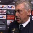 """Ancelotti bacchetta l'UEFA: """"Il pallone dell'Europa League non è all'altezza. Possiamo giocarcela con tutti, ma non sottovalutiamo il ritorno"""" [VIDEO]"""