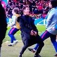 Raddoppio dell'Atletico Madrid sulla Juventus, incredibile esultanza di Simeone con un gesto rivolto alla tribuna [VIDEO]