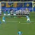 La magia su punizione di Milik fa esplodere i tifosi azzurri, immagine inedite dalla Tribuna! [VIDEO LIVE]