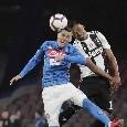 Juventus, Alex Sandro KO: a rischio per la partita contro il Napoli?