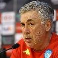 """Ancelotti in conferenza: """"Fastidio all'adduttore per Insigne. Chiriches ha un problema muscolare. Albiol può tornare per i quarti di finale. Su Diawara, Luperto e Mertens..."""""""