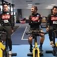 Allenamento in palestra per gli azzurri: Callejon, Verdi e Younes se la ridono sulla cyclette [FOTO]