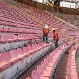 UFFICIALE - Sediolini stadio San Paolo: si parte dalle Curve inferiori. Cantieri aperti anche in Tribuna e settore ospiti: i dettagli