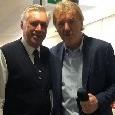 Bell'incontro all'Olimpico: Ancelotti posa con Boniek prima di Roma-Napoli [FOTO]