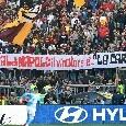 """Striscione polemico Ultras Roma: """"Festival di Napoli, il vincitore è la carogna!"""" [FOTO]"""