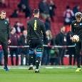 Napoli-Arsenal, le formazioni ufficiali: Ancelotti si affida a Chiriches e Maksimovic dal 1', out Mertens! Lacazette ed Aubameyang per Emery