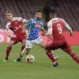 Napoli-Arsenal, Monreal sparisce dal campo per cinque minuti: è dovuto scappare in bagno