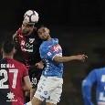 L'ex Napoli Pavoletti è il re dei gol di testa: è in doppia cifra!