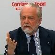 """De Laurentiis: """"Un attaccante e un terzino, ma prima vendiamo! Ancelotti resta con noi per altri due anni"""""""