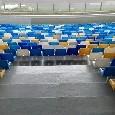 San Paolo, prosegue la sostituzione dei sediolini: quattro colori nei settori Inferiori [FOTOGALLERY]