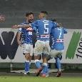"""Il commento della SSC Napoli: """"Il Napoli si fa in quattro, verso il battito infinito ed eterno di un nuovo romanzo azzurro"""""""