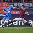 """Sconfitta a Bologna, il commento della SSC Napoli: """"Vittoria negata dall'ennesimo palo, lo sguardo è già rivolto al futuro"""""""