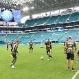 SSC Napoli, allenamento a Miami: differenziato per Ospina, rientra in gruppo anche Allan