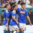 Napoli-Barcellona 1-2 (39' Busquets, 41' aut. Umtiti, 79' Rakitic): gli azzurri soffrono dopo l'errore di Milik, i blaugrana legittimano la vittoria