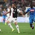 """Il commento della SSC Napoli: """"La Dea bendata si mette la benda bianconera. Resta tanto per cui essere fieri e soddisfatti"""""""