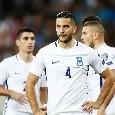 Grecia, il tecnico van't Schip esclude ancora Manolas dai convocati: gioca troppo poco col Napoli