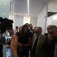 San Paolo, De Laurentiis visita i nuovi spogliatoi: sopralluogo anche sul terreno di gioco del San Paolo [FOTO CN24]