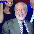 """De Laurentiis: """"Una partita straordinaria! Sono orgoglioso di essere il vostro Presidente! Forza Napoli Sempre!!"""""""
