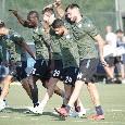 SSC Napoli, il report della seduta mattutina: lavoro di scarico per chi ha giocato col Liverpool. Tonelli sempre a parte
