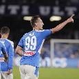 """Il commento della SSC Napoli: """"Arek bum-bum. La fatal Verona al San Paolo è quella di Milik che si riprende gloria e destino"""""""