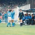 <i>FLASHBACK</i>...su Napoli-Atalanta: da Maradona a Zola, il passaggio della 10 e lo striscione azzurro 'Solo la nebbia'