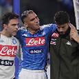 SSC Napoli, la radio ufficiale: per Allan solo una forte botta, ma niente di grave. Salta la gara di Roma
