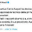 UFFICIALE - Il Napoli ha esonerato Ancelotti