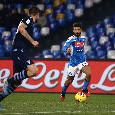 Ultimo cambio per il Napoli: fuori Insigne tra gli applausi, dentro Fabian Ruiz