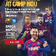 Biglietti Barcellona-Napoli in vendita, i prezzi: sfida di Champions verso il sold out