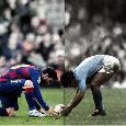 """Il Barcellona posta una splendida foto di Maradona e Messi sui social: """"Passato e presente [FOTO]"""