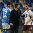 Napoli-Torino dalla A alla Z: Dalle vuvuzelas del San Paolo al 'tuppo' di Ansaldi: 'tutti uniti contro il coronavirus', un saluto ai tifosi del Brescia