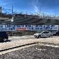 """Napoli, altro striscione all'esterno del San Paolo: """"L'eccellenza Cotugno vostro incubo mentale"""" [FOTO]"""