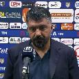 """Gattuso: """"Rigori? Non siamo fortunati con Giua! Kulusevski cade prima, ma dovevamo far meglio! Quando gli avversari arrivano nella nostra metà campo soffriamo"""""""